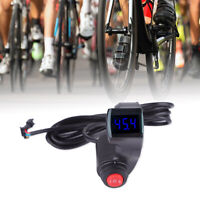 E Bike Bicycle Thumb Throttle 12-99v LCD Display Voltmeter & 3-Speed Switch HE
