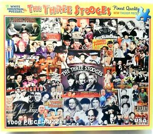 White Mountain The Three Stooges Jigsaw Puzzle New Sealed 1,000 Piece NEW