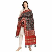 Women Silk Blend Patola Dupatta Tippet Scarf Traditional Wear