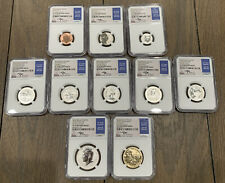 2018 S 10 Coin Silver Reverse Proof Set NGC Pf 70 RP, FDI, Mercanti Signed