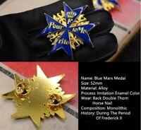 WW2 Prussian Frederick Crown Oak Leaf Blue Iron Marx Oakleaves Brave Medal