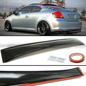 For 04-10 Scion tC Coupe Rear Window Roof Sun Rain Shade Vent Visor Spoiler