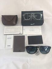 New Authentic PERSOL Polarized Steve McQueen 714 Folding Sunglasses Black 52mm