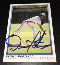 DENNIS MARTINEZ SIGNED MONTREAL EXPOS 1991 O-PEE-CHEE PREMIER #75 CARD!