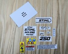 Stihl/Farmertec 025, MS 250 Chainsaw Complete Vinyl Decal / Sticker Kit.