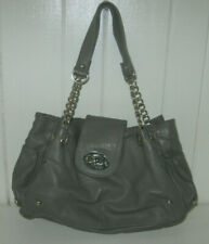 ALDO Gray Faux Leather Silver Accent Tote Purse Handbag