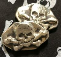 "1.5 Troy Oz  MK BarZ ""Pirate Trading"" Bar .999 Fine Silver HAND POURED"