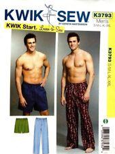 Kwik Sew Sewing Pattern K3793 3793 Men's Sleep Pants & Shorts