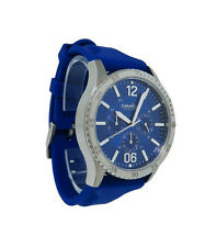 Caravelle New York 43A117 Men's Round Blue Analog Stainless Steel Silicone Watch