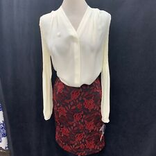 """TAHARI BY ARTHUR LEVINE SKIRT/LACE/SIZE  4/NEW W TAG/RETAIL$119/LENGTH 23""""/"""