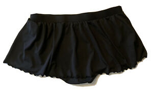 Catalina Swim Skirt/ Bottoms Black Pull-On Stretchy Comfortable Plus Size 3XL