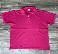 Lacoste Devanlay Mens Polo Shirt  Pink Size 6 XL Tshirt Casual Short Sleeve