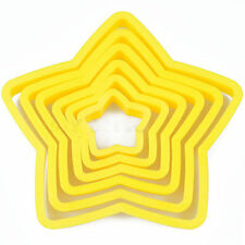 Creative Fondant Cake Meal Stars Shape Mould Cookie Cutters Mold Decor Tools