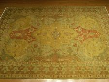 6 x 9  Oushak Rug Handmade Hand Knotted Vegetable Dye Hand Spun Soft Silky Wool
