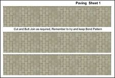 """""""00""""Gauge,Paving, 2m  of 1 mm Thick Card to cut out,plus 250 Drain coversEtc   ."""