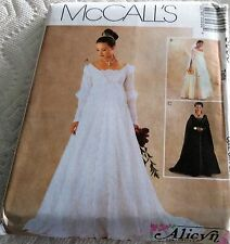 McCalls Pattern 3053 Renaissance Wedding Gown, Bridesmaid Gown SZ 12-16