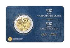 PREVENTE Coincard 2 Euros Commémorative Belgique Carolus 2021 BU Version FR
