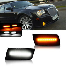 Switchback LED Smoked Side Marker Turn Signal Lights For 2005-2010 Chrysler 300