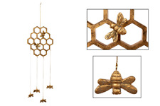Golden Honeycomb & Bees Hanging Mobile Decoration.
