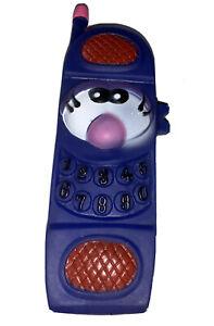 Blue Vinyl Squeak Squeaky Medium Mobile Phone Dog Puppy Toy
