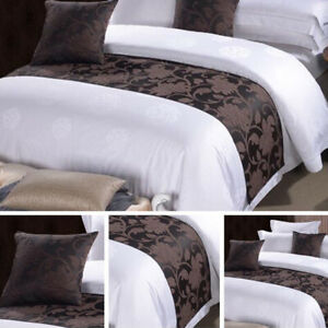 Hotel Bed Scarf Runner Cushion Cover Bedding Wedding Bedroom Home Luxury Decor