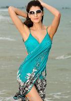 Womens Push-up One-piece Swim Dress Swimsuit Bikini Swimwear Free Size Tankini