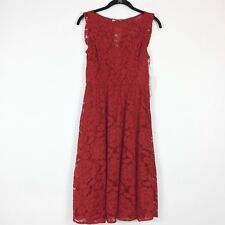 LC Lauren Conrad Dress Size XS Be Mine Lace Red Carntn Knee Length Floral
