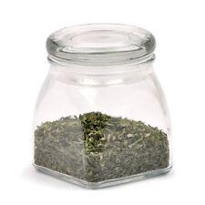 RSVP Big Mouth Spice Jar Glass Airtight Unique Angular Shaped Clear Glass BIG-BU