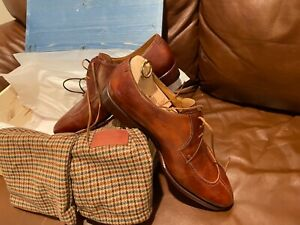 New in Box Stefano Bemer Museum Leather Shoes Bracklen Brown Handmade Italy 43.5