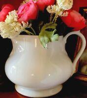 Antique French White Porcelain Pitcher Vase Display