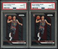 (x2) 2018-19 Panini Prizm Trae Young #78 PSA 10 Rookie Hawks Gem Mint [Lot of 2]