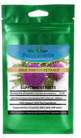 Organic Milk Thistle Extract Vegetable Capsules 80% Silymarin No Fillers