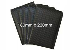 100x MATT BLACK  FOIL BUBBLE PADDED ENVELOPES  180x230mm  SALE !!!
