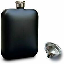 Ddraw Hip Flask Liquor With Funnel, Food Grade Stainless Steel Men/Women 6 Oz