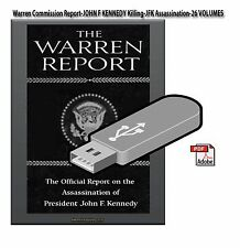 Warren Commission Report-JOHN F KENNEDY-JFK Assassination- 26 VOLUME Set On USB