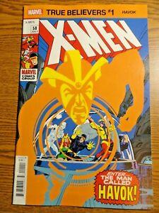 Uncanny X-men #58 True Believers Reprint Key 1st Havok Neal Adams Cover Marvel