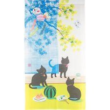 JAPANESE Noren Curtain NEW CAT SUMMER FURIN NEW 85x150cm