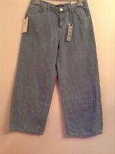 BNWT 100% auth Tommy Hilfiger, 3/4 Crop Wide Leg Soft Jeans. 26/30 RRP £140