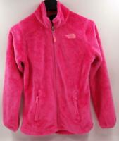 The North Face Girls Pink Fleece Zip Up Jacket Sz M Kids (10/12)