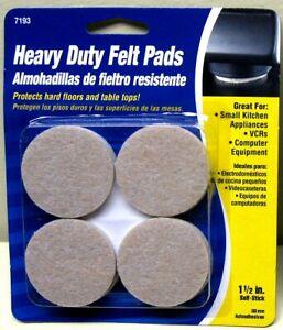 """1½"""" Round Beige Adhesive Backed Felt Pads"""