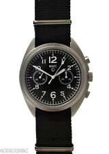 MWC RAF N.A.T.O Pattern S/Steel Handwound Mechanical Military Pilots Chronograph