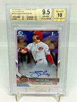 2018 Bowman Draft MLB 1st Chrome Autograph Jonathan India BGS 9.5 GEM MT Reds