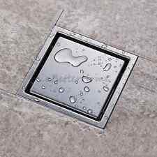 Invisible Square Floor Insert Drain Bathroom Shower Drainer Tile Stainless Steel