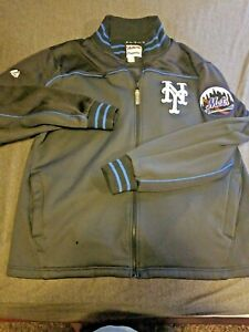 Majestic Authentic MLB New York Mets Adult Large Embroidered Baseball Jacket