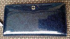 Kate Spade Mavis Street Neda Zip around navy glitter Wallet wlru2388 Off shore