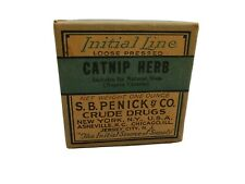 Antique Cat Nip Herb Apothecary Pharmacy Crude Drug Medicine Box Initial Line