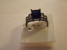 BAGUE Bleu Glamour Ring Anello  GOLD FILLED COEUR T10 New