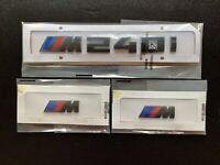 GLOSS BLACK BMW M240i + FENDER BADGE X2 CUSTOM REAR LETTERING 1 SERIES 3M UK5