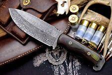 "CFK Custom Handmade Raindrop Damascus Utility Tactical Hunting 5"" Blade Knife"