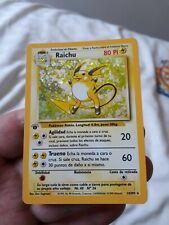 Spanish 1st / First Edition Base Set Raichu Pokemon Card